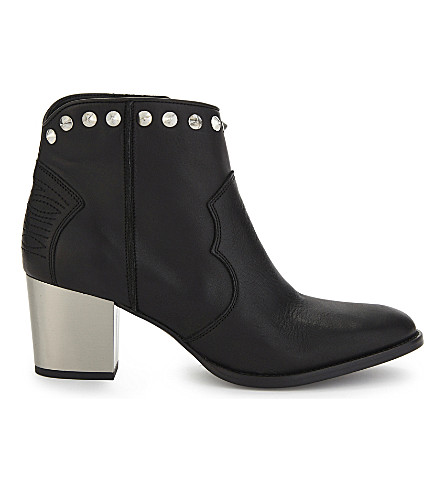 ZADIG & VOLTAIRE Molly studded ankle boots (Noir