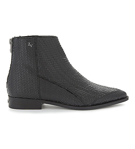 ZADIG & VOLTAIRE Mods Keith leather ankle boots (Noir