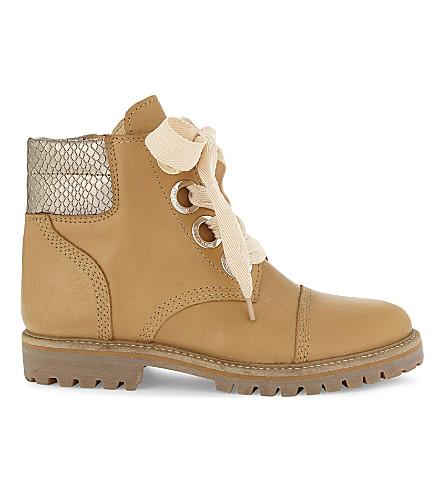 ZADIG & VOLTAIRE Joe Low leather boots (Camel
