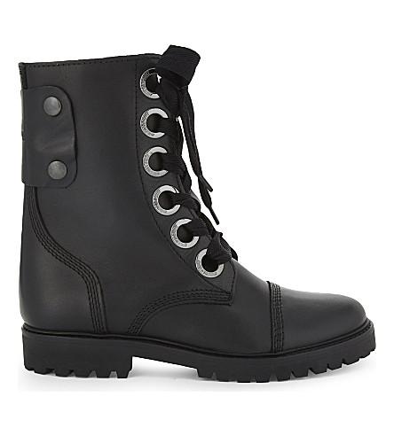ZADIG & VOLTAIRE Joe leather boots (Noir