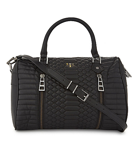 ZADIG & VOLTAIRE Sunny medium quilted bowling bag (Noir