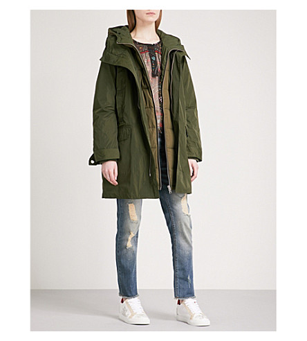 ZADIG & VOLTAIRE Karly quilted shell parka coat (Kaki