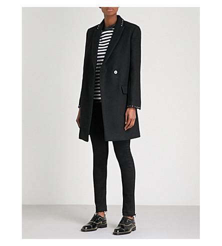 ZADIG & VOLTAIRE Marco peak-lapel wool-blend coat (Noir