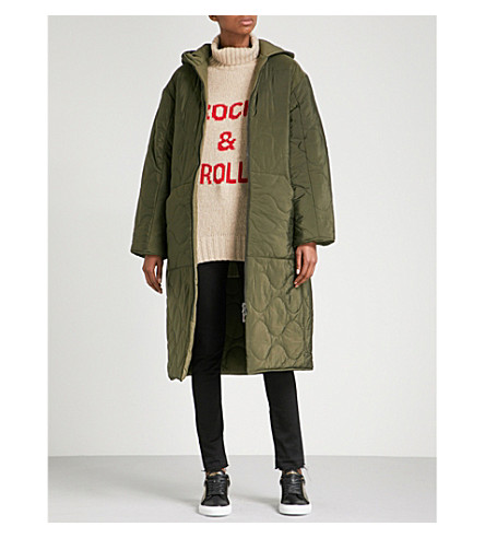ZADIG & VOLTAIRE Koet hooded quilted shell parka coat (Lierre