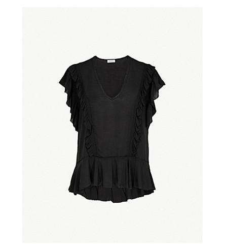 ZADIG&VOLTAIRE Torma flared-sleeve woven top (Noir