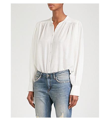 ZADIG & VOLTAIRE Tolga cotton-blend blouse (Sushi
