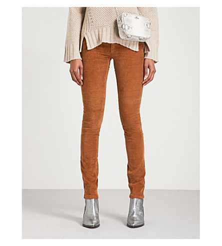 ZADIG & VOLTAIRE Eva skinny mid-rise corduroy jeans (Camel