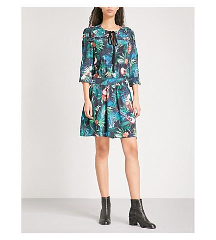 ZADIG & VOLTAIRE Remus Jungle woven mini dress (Bouteille