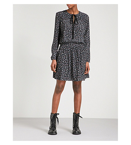 ZADIG & VOLTAIRE Remus Liberty crepe mini dress (Noir