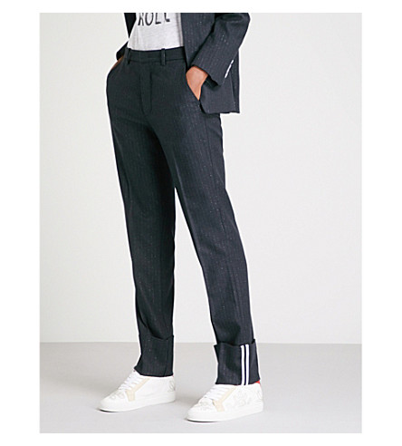ZADIG & VOLTAIRE Droit twill trousers (Marine