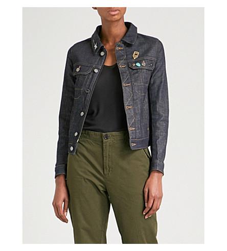 ZADIG & VOLTAIRE Kioky Brut stretch-denim jacket (Brut