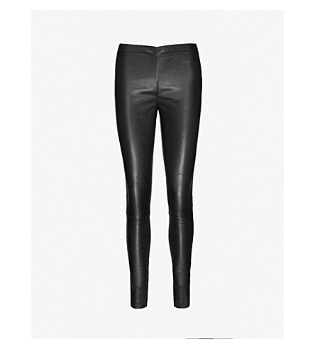 ZADIG & VOLTAIRE Pharel Cuir Deluxe mid-rise leather leggings (Noir