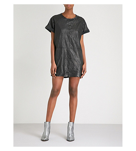 ZADIG & VOLTAIRE Rollins Deluxe leather mini dress (Noir