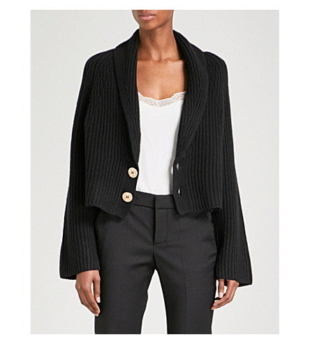 ZADIG & VOLTAIRE Tory wool and cashmere-blend cardigan (Noir