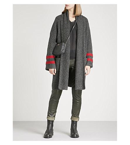 ZADIG & VOLTAIRE Mia alpaca wool-blend cardigan (Anthracite