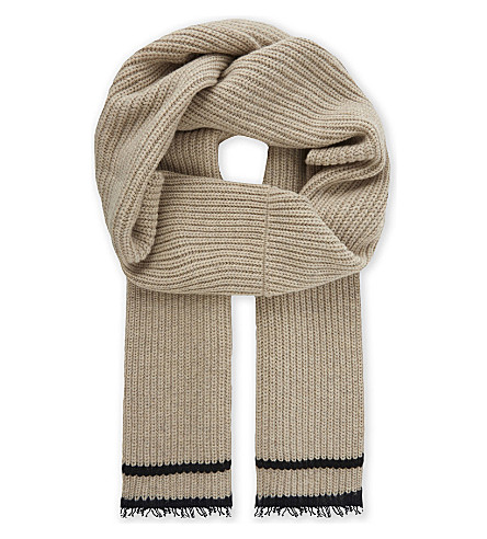 ZADIG & VOLTAIRE Lisa wool-blend ribbed scarf (Ficelle