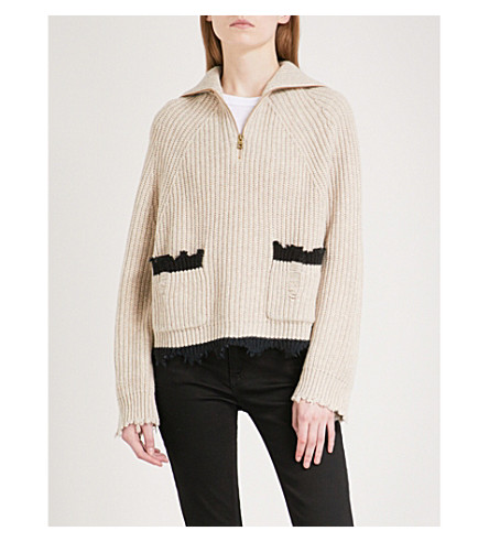 ZADIG & VOLTAIRE Taliah WY wool and yak-blend jumper (Ficelle