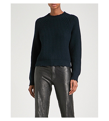 ZADIG & VOLTAIRE Kary Woc wool and cashmere-blend jumper (Encre