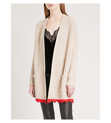 ZADIG & VOLTAIRE Rita WY wool and yak-blend cardigan (Ficelle