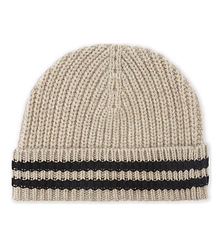 ZADIG & VOLTAIRE Malo ribbed wool beanie hat (Ficelle
