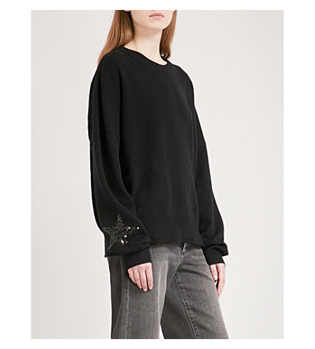 ZADIG & VOLTAIRE Rony wool and cashmere-blend jumper (Noir
