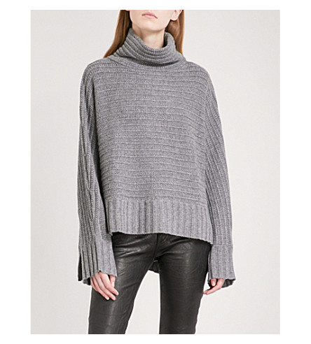 ZADIG & VOLTAIRE Athin Deluxe cashmere jumper (Gris+chine