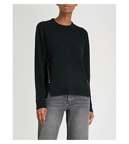 ZADIG & VOLTAIRE Genna wool and cashmere-blend jumper (Noir