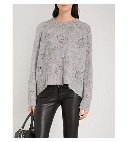 ZADIG & VOLTAIRE Mark Deluxe cashmere jumper (Gris+chine+clair