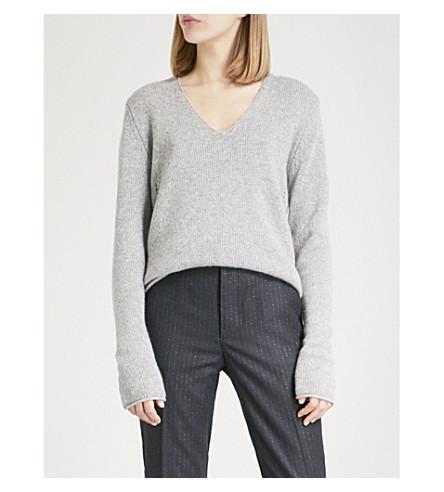 ZADIG & VOLTAIRE Nosfa Deluxe cashmere jumper (Gris+chine+clair