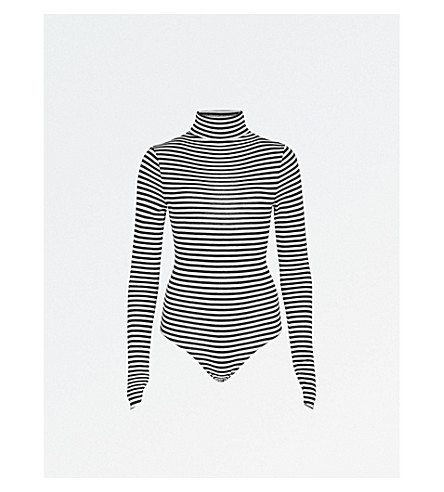 ZADIG & VOLTAIRE Beth striped wool-blend body (Blanc