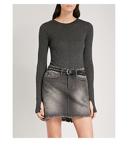 ZADIG & VOLTAIRE Jo wool-blend body (Anthracite