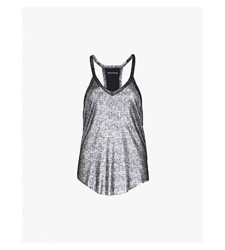 ZADIG&VOLTAIRE Chelsea metallic stretch-knit top (Argent