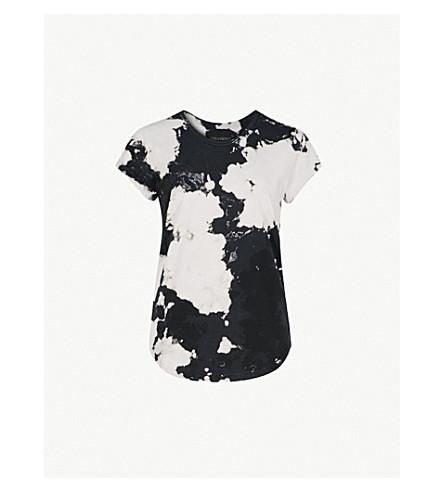 ZADIG & VOLTAIRE西雅图漂白效果平纹针织棉 T 恤 (黑色