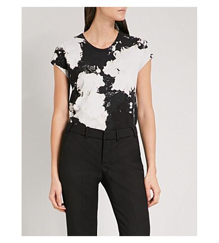 ZADIG & VOLTAIRE Seattle bleach-effect cotton-jersey T-shirt (Noir