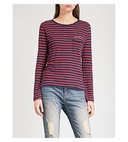 ZADIG & VOLTAIRE Regy Stripes cotton top (Marine