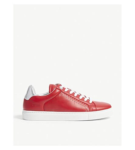 ZADIG & VOLTAIRE ZV1747 皮革运动鞋 (胭脂