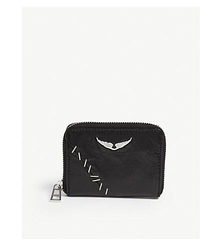 ZADIG & VOLTAIRE Compagnon 皮革钱夹 (黑色