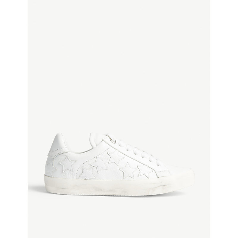 Zadig Stars leather trainers