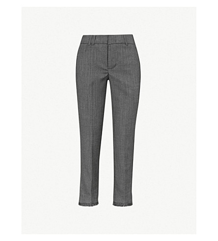 zadig & voltaire posh 裁剪的高层编织直腿裤 (无烟煤)