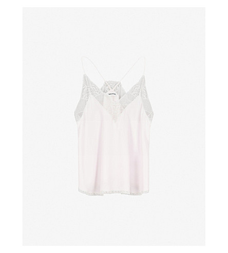 ZADIG & VOLTAIRE Christie silk top (Parme