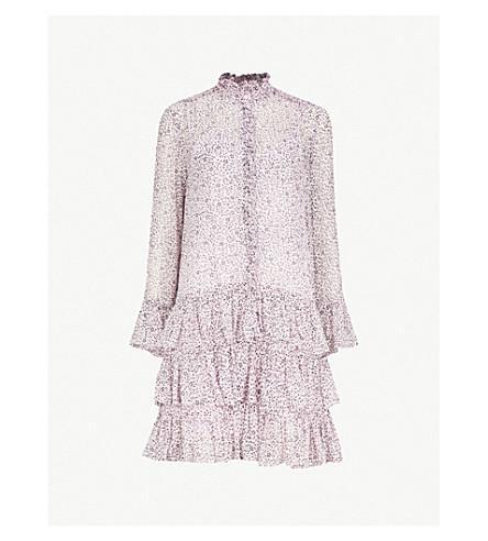 ZADIG & VOLTAIRE Rebbie Goa ruffled floral-print chiffon mini dress (Parme