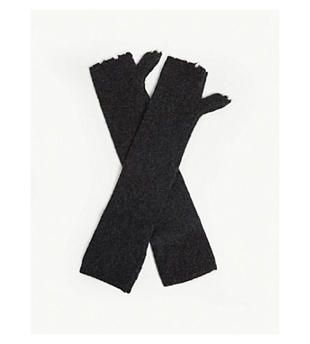 ZADIG & VOLTAIRE 库尔特羊绒混纺露指手套 (无烟煤