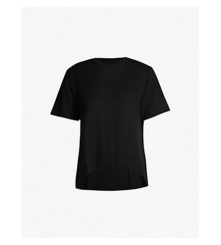 ZADIG & VOLTAIRE Ida 短袖羊毛毛衣 (黑色