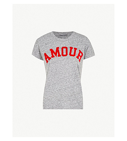 zadig & voltaire amour 棉混纺 t恤 (gris + chine)