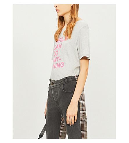 ZADIG & VOLTAIRE 贝拉平纹针织棉 T 恤 (皮诺)