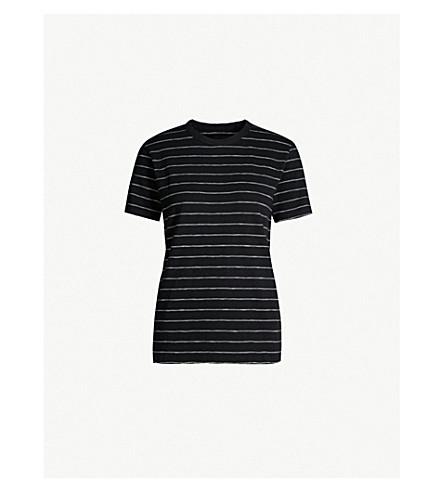 ZADIG & VOLTAIRE 佩特拉平纹针织棉 T 恤 (黑色