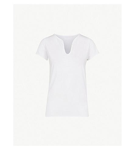 zadig & voltaire 纽扣装饰棉运动 t恤 (blanc)