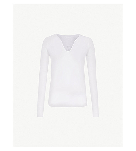 ZADIG & VOLTAIRE Logo-print cotton-jersey top (Blanc