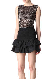 MAJE Accent lace-front dress