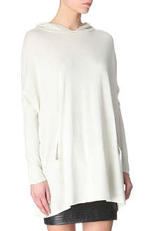 MAJE Hooded loose jumper
